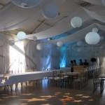 Village hall draping decor
