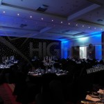 Venue draping - Black starlight venue decor