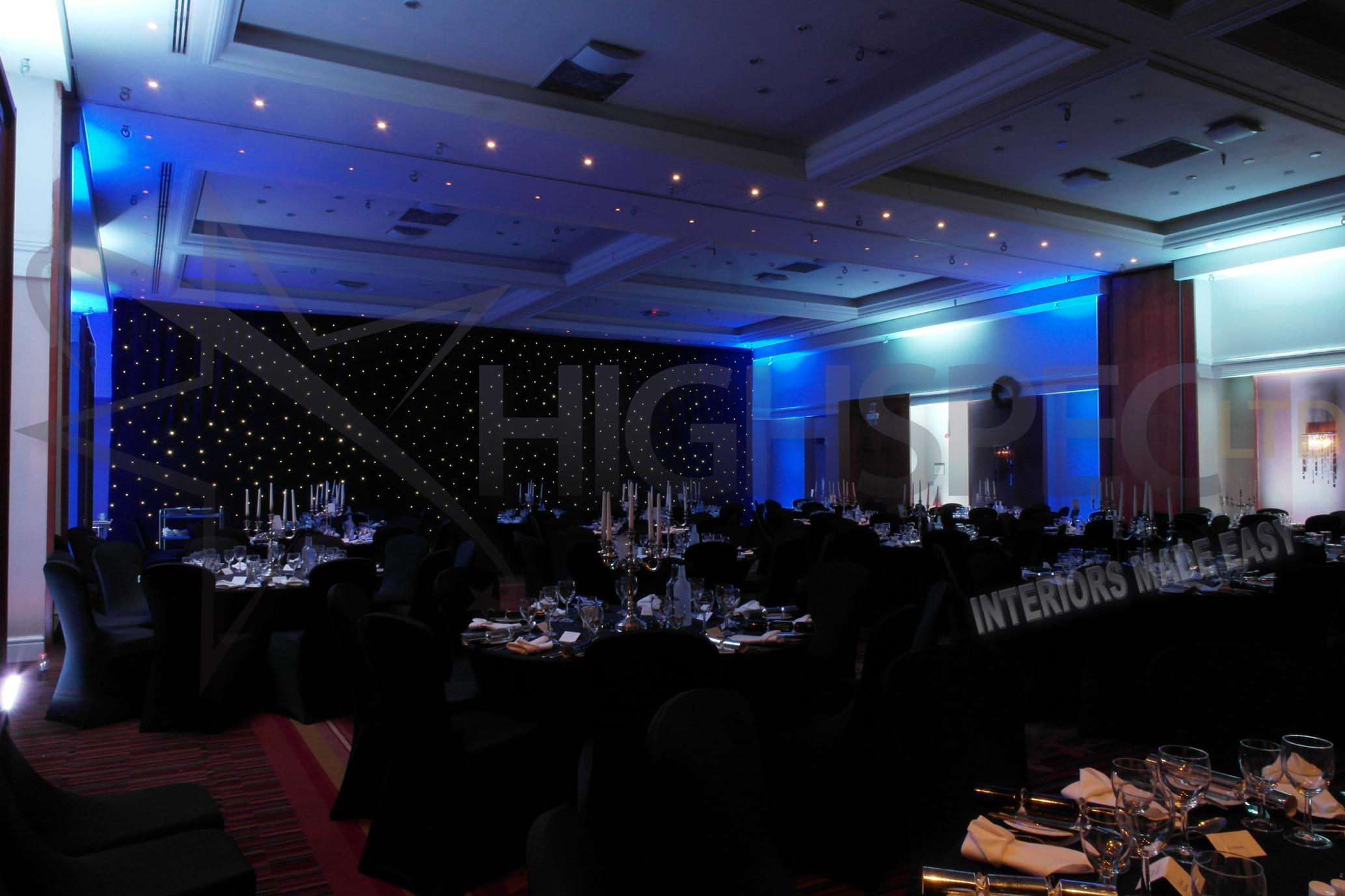 Venue draping - Black starlight venue decor
