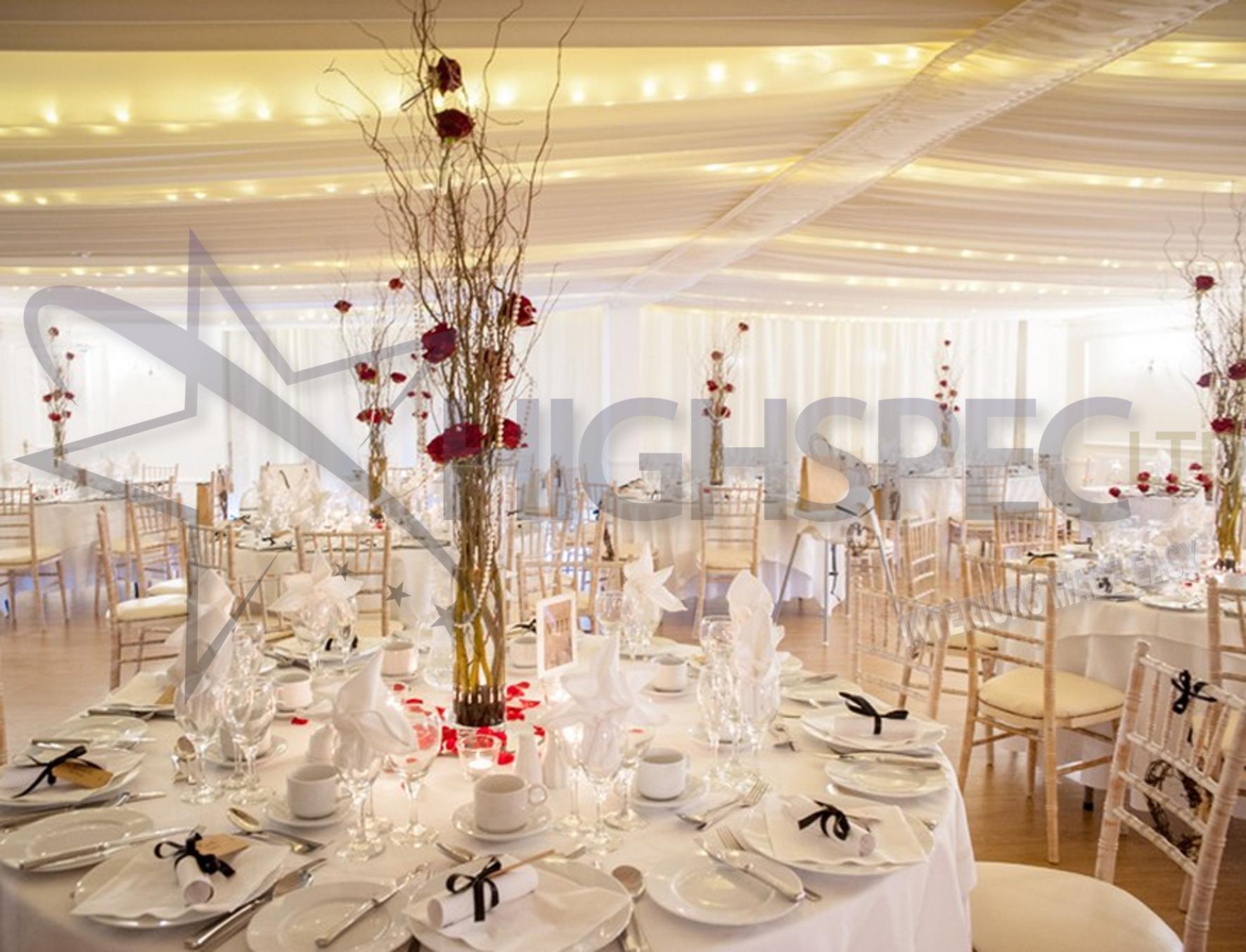 Fairylight ceiling drape
