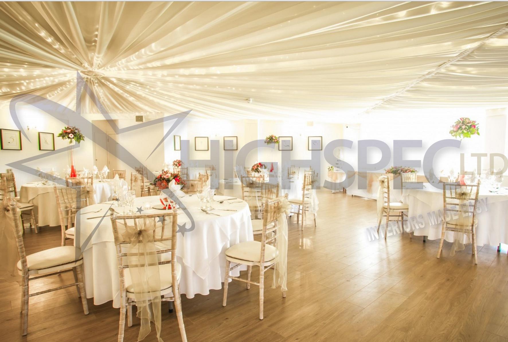 Venue draping - Fairylight ceiling drape