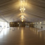 Venue draping - Pleated marquee lining decor
