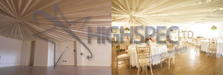 Venue draping - Starlight Ceiling Drape