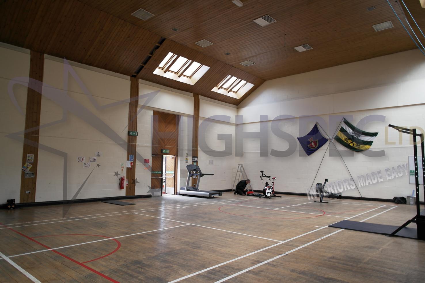 Sports hall lining decor