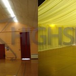 Venue draping - Village hall draping decor
