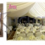 Village hall draping decor