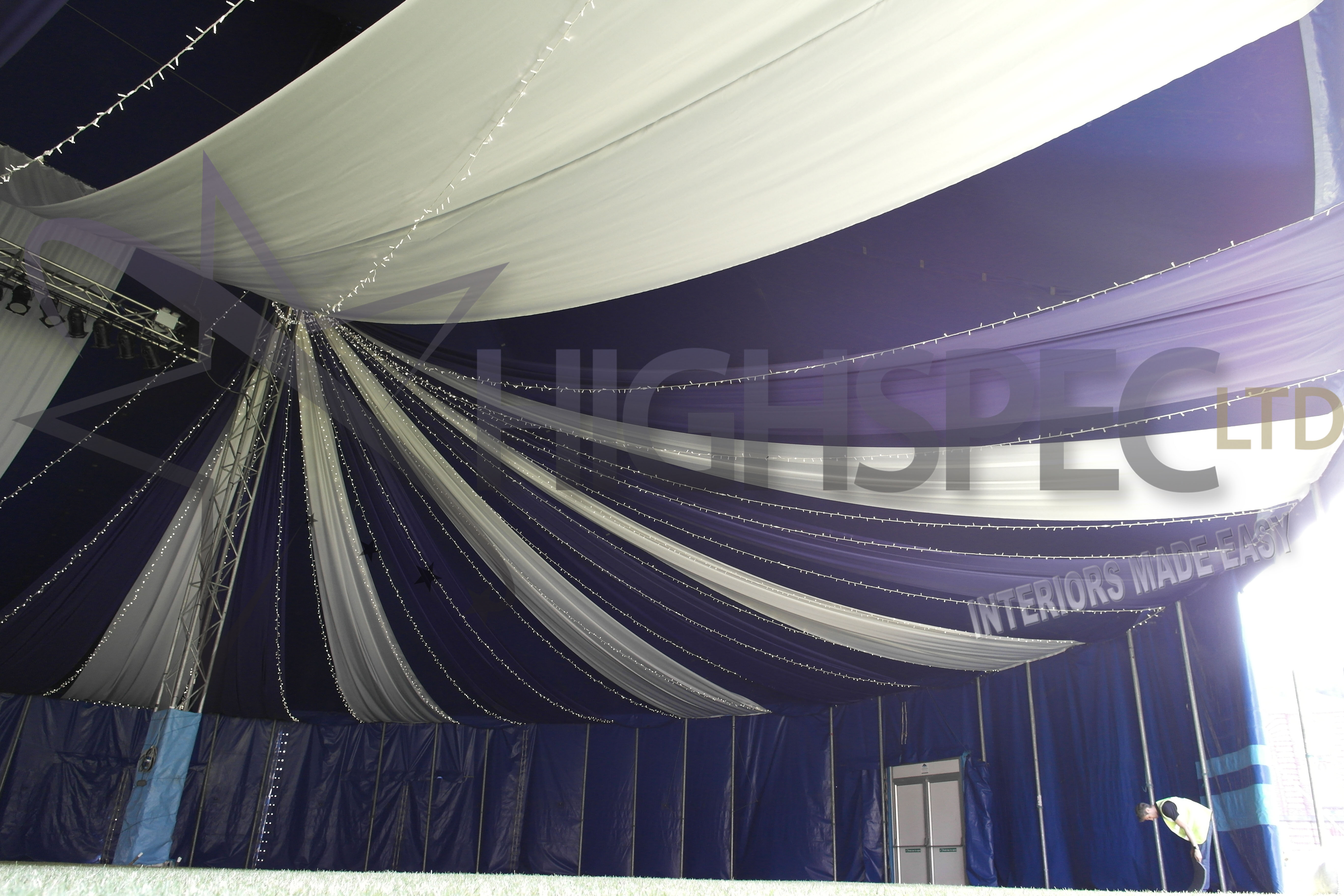 Big top ceiling drapes