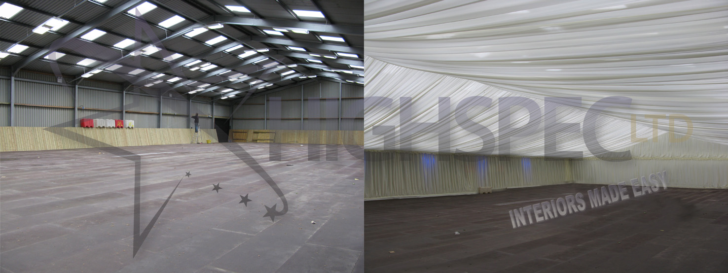 Venue draping - Sports hall lining decor