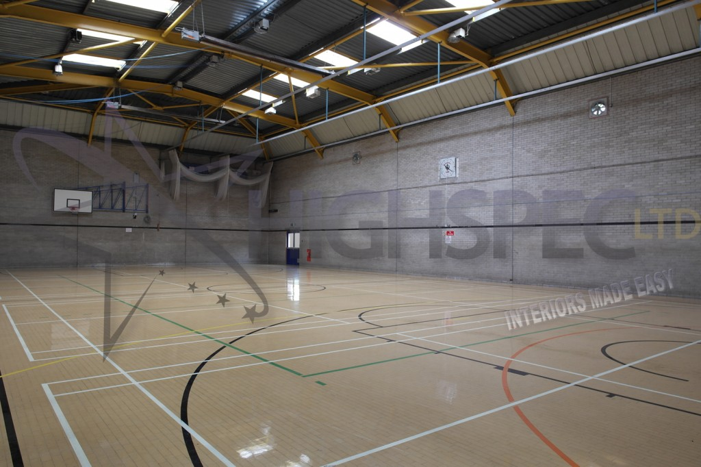Sports hall lining decor
