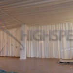 Ivory pleated ceiling decor