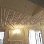 Ivory pleated decor