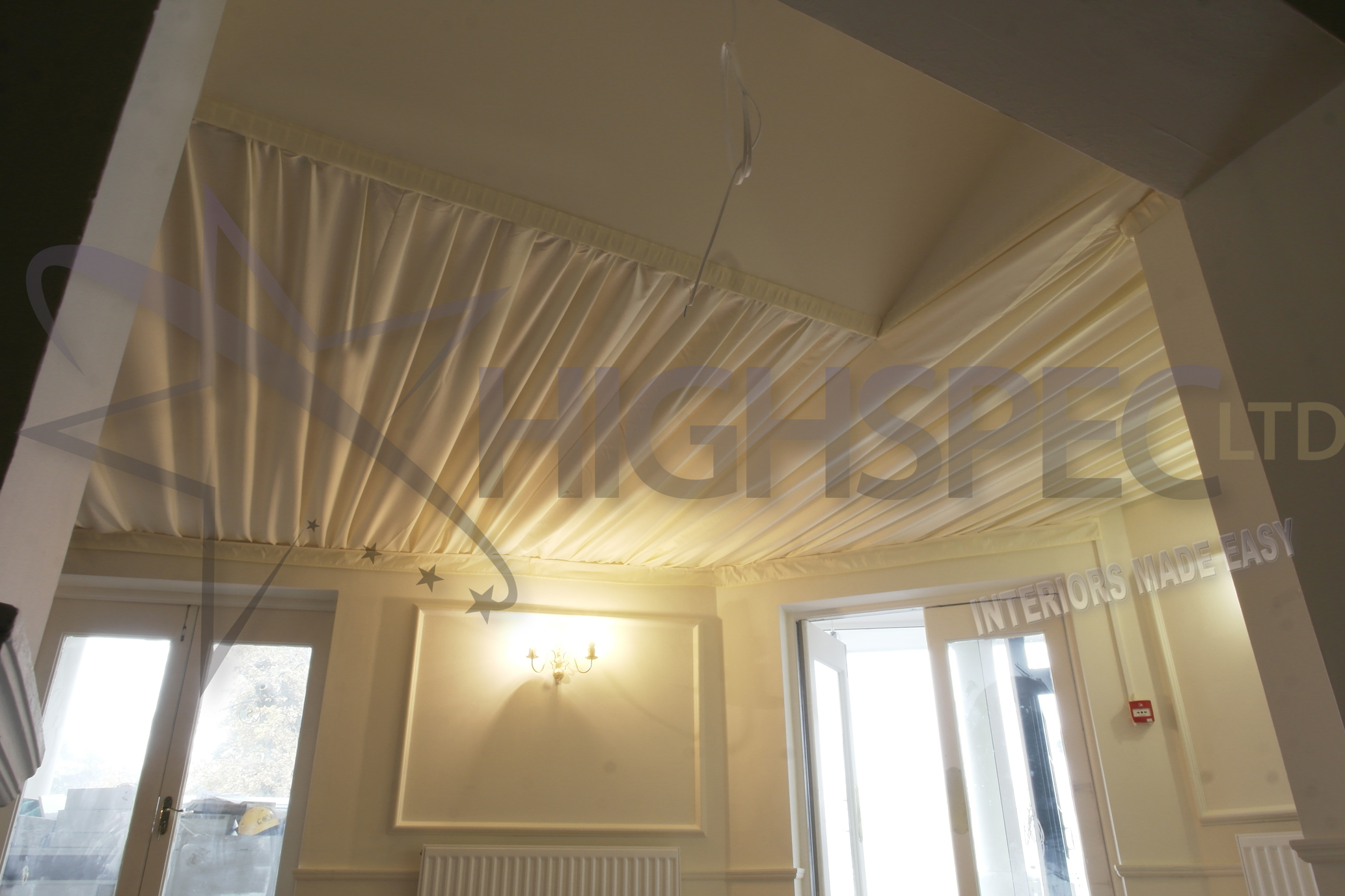 Ivory pleated decor