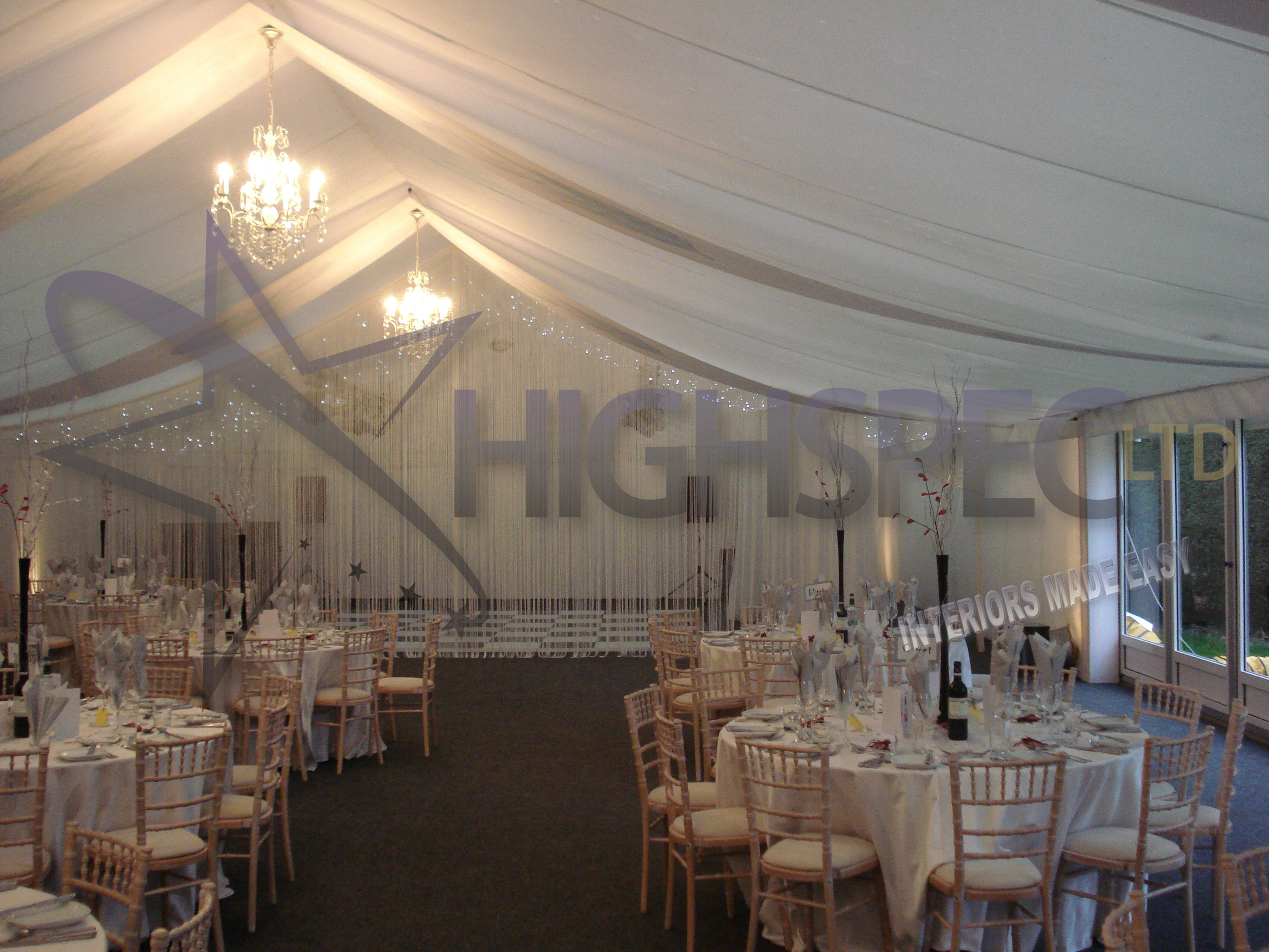 Marquee thread curtain decor