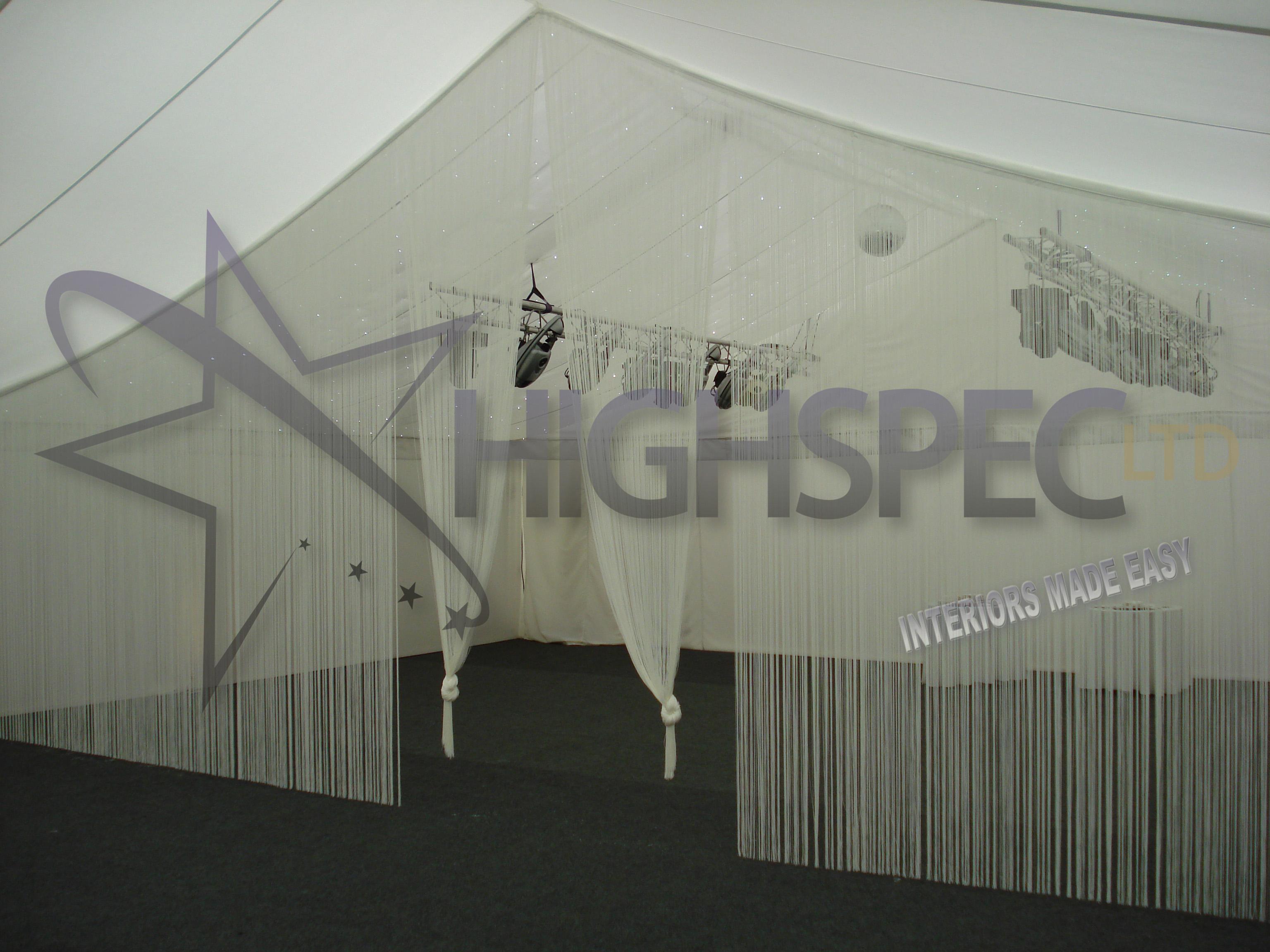 Marquee thread curtain decor